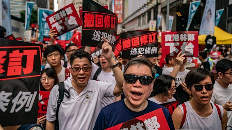 香港百萬人上街怒吼:中共的法治不可信