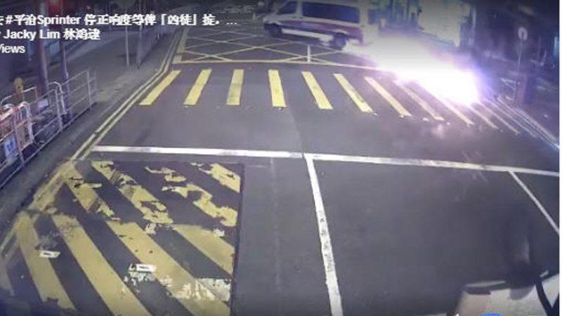 反送中遊行前港警遇襲 網友:製造鎮壓藉口的鬧劇