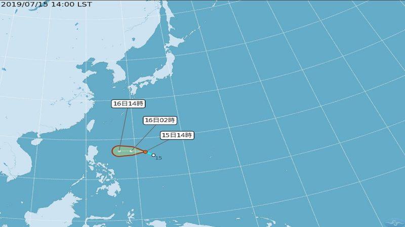 轻台丹娜丝路最快今晚形成 不排除发布台风警报