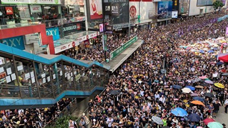 【图辑1】7.21反送中 游行人潮挤爆港岛