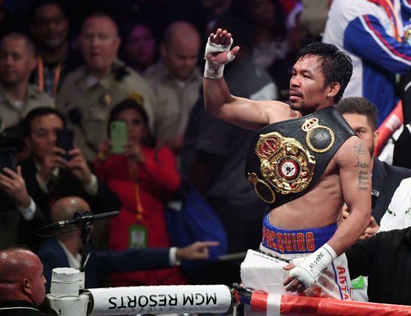 40岁拳王帕奎奥成为WBA次中量级真霸主