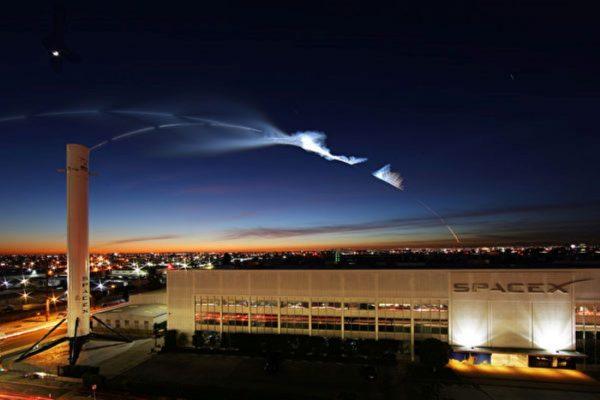 去火星迈出一大步 SpaceX新火箭测试成功