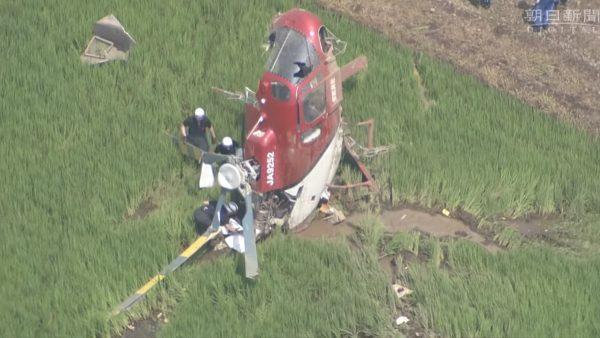 疑卷入电线 日直升机喷洒农药坠机 驾驶受伤