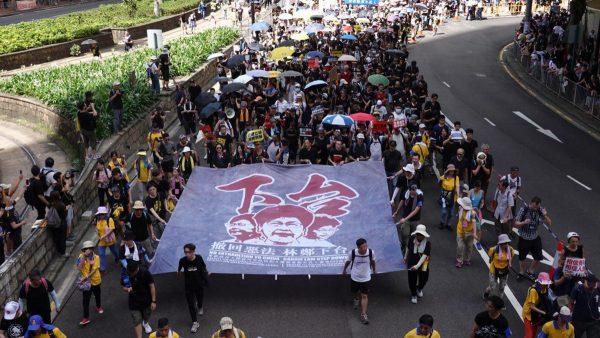 【組圖4】香港大遊行强行開啟 警方未阻止