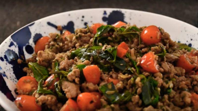 泰式打抛肉 美味简单的家常菜(视频)