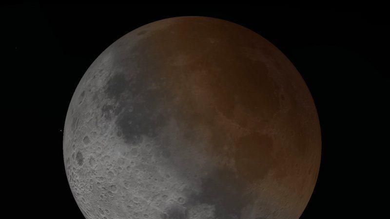 """17日清晨抬头望 可看到""""半个红月亮""""月偏食"""