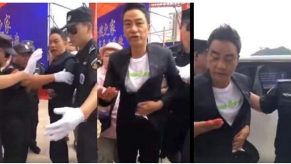 港星任达华广东遇刺爆血 凶嫌疑精神病(视频)