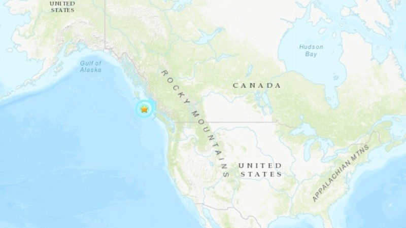 加拿大温哥华岛6.5强震 尚未传出灾情