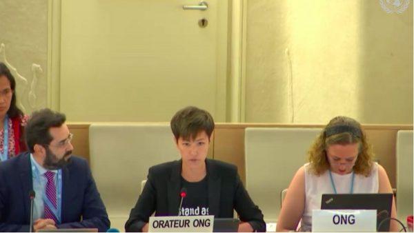 何韻詩聯合國發言 兩度被中共官員打斷(視頻)