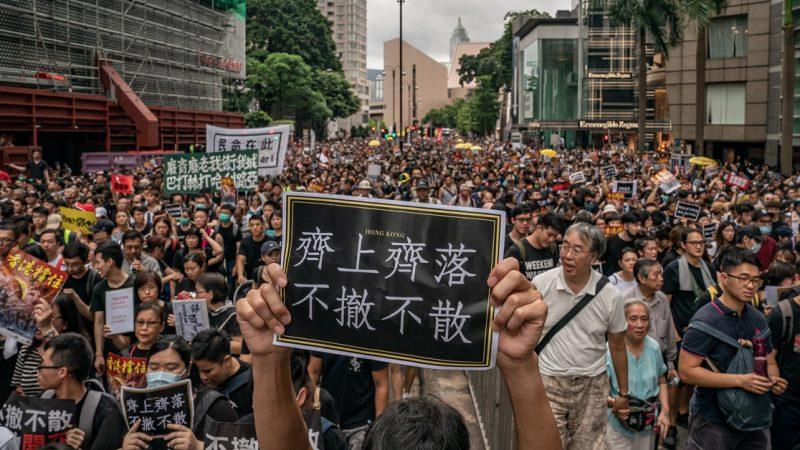 陈光诚:香港抗议不断直击要害 内地心照不宣迂回上街游行