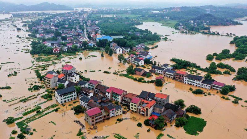 400条河超警戒线湘江决堤 中国多地被淹官媒沉默(多图视频)