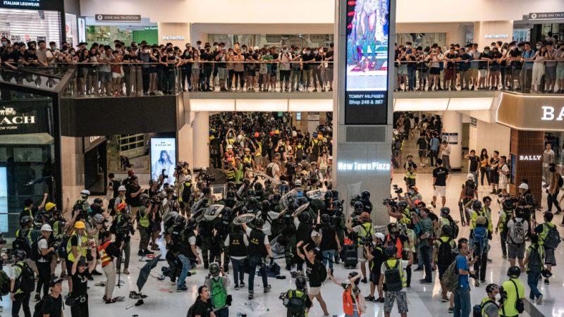 【直播回放】沙田大游行 新城市广场警民混战