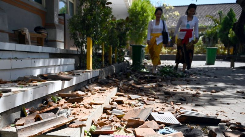 印尼峇里岛今晨5.7地震 20栋建物受损