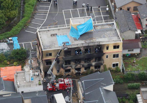 京都动画纵火案 水泥围阻服务器 原画抢救成功