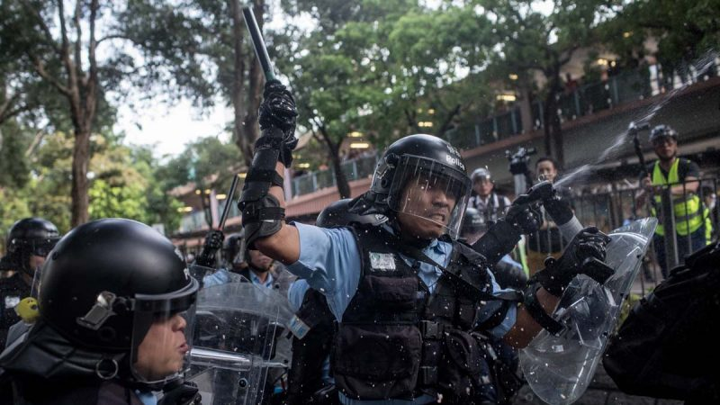 香港两日三场游行 警方暴力升级屡溅血