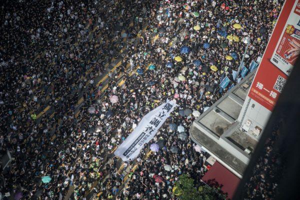 香港721中联办示威 + 元朗白衣人打人事件 + 43万人游行