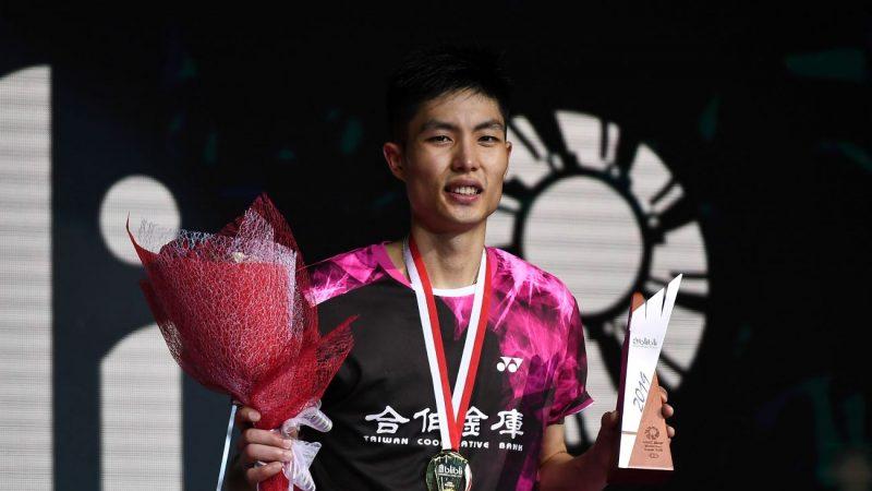 夺印尼羽赛男单冠军 周天成台湾第一人