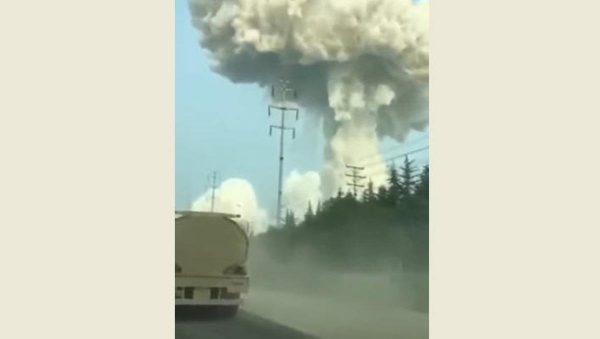 河南汽化厂大爆炸 已致2死12失联18伤(视频)