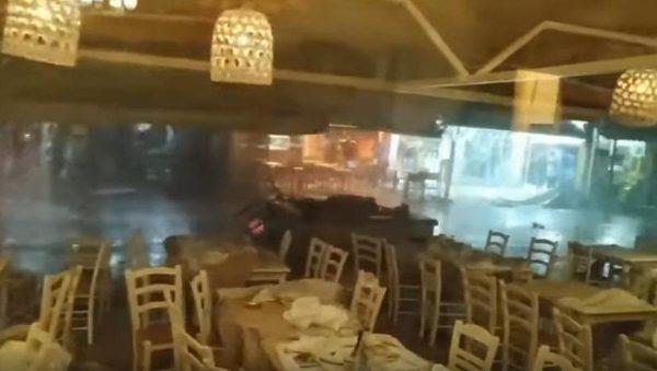 暴风闪电狂扫希腊半岛七死百伤 骇人场面如末日(视频)