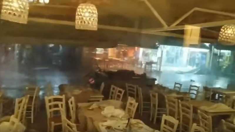 暴風閃電狂掃希臘半島七死百傷 駭人場面如末日(視頻)