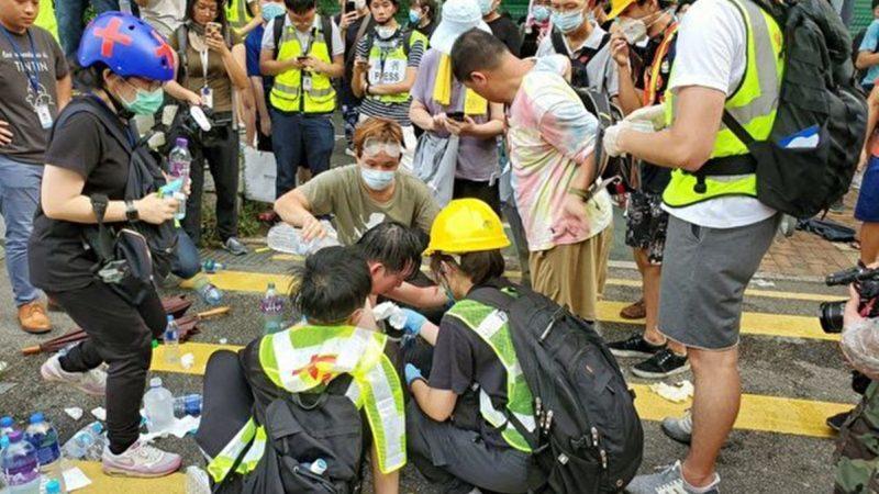 【直播回放】香港新闻界静默游行 抗议警暴