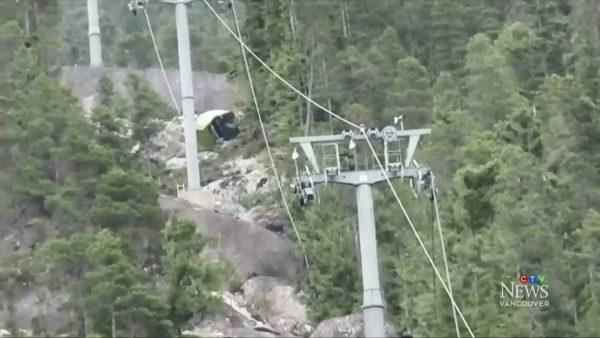 加拿大「海天纜車」疑遭切斷纜繩 數十車廂墜毀
