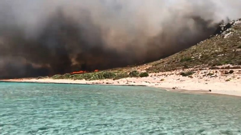 高温强风助长 希腊一天逾50场野火