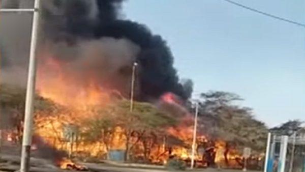 中石油与秘鲁居民谈判破裂 建物遭火焚