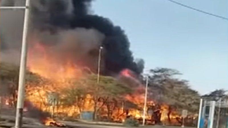 中石油與祕魯居民談判破裂 建物遭火焚