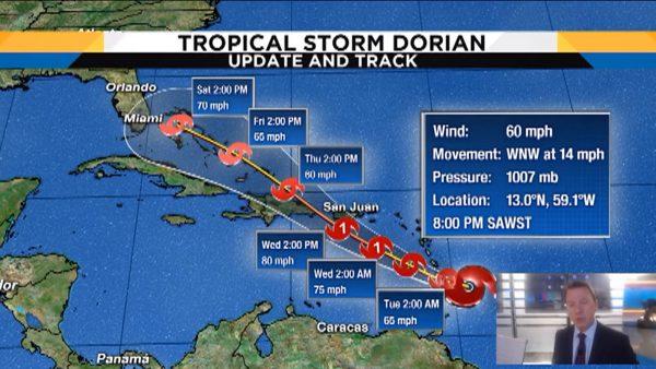热带气旋多利安直扑加勒比海 民众扫光商店货品