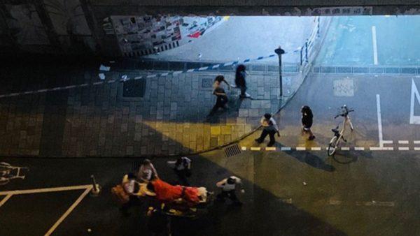 香港將軍澳連儂牆3人被砍 凶徒持大陸口音