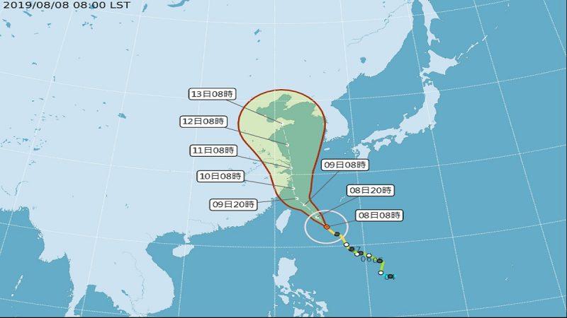 利奇馬轉強颱 台發陸警愈晚風雨愈明顯