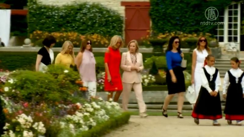 G7第一夫人游法国小村 品酒赏红辣椒