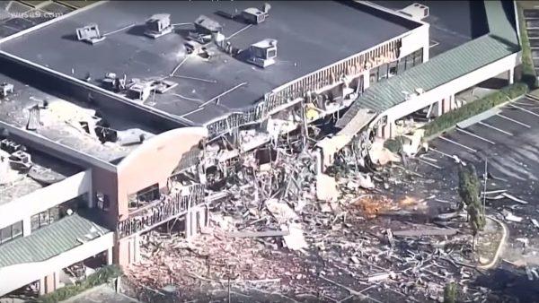 疑气体泄漏 马里兰州购物中心爆炸起火