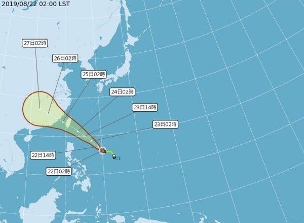 轻台白鹿直奔台湾 估23日发海陆警报