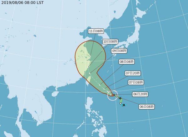 颱風利奇馬今變中颱 7日或發海陸警