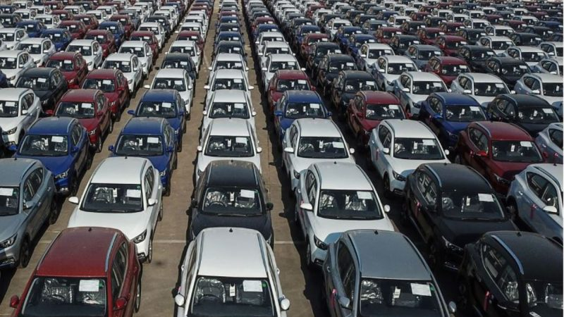 中国7月汽车销量同比降5% 连跌13个月