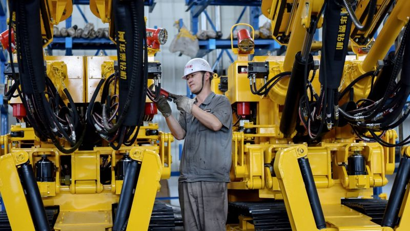 中國製造業PMI連續3個月低於榮枯線