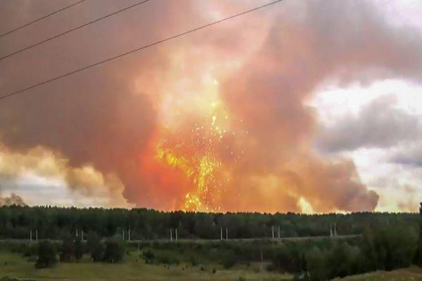 西伯利亚弹药库爆炸 冲击波直上云霄至少酿9死伤