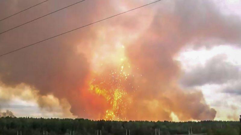 西伯利亞彈藥庫爆炸 衝擊波直上雲霄至少釀9死傷