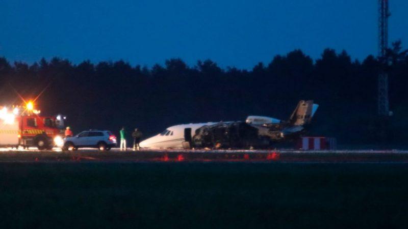 女歌手Pink私人飛機 急降丹麥機鼻觸地起火幸無傷
