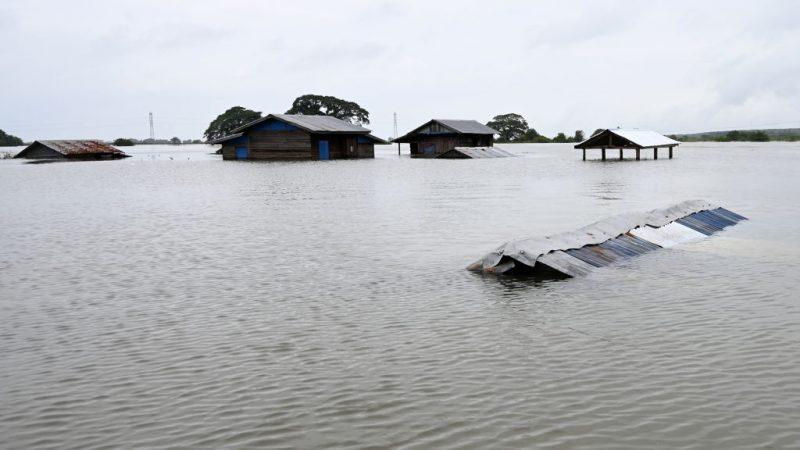 雨季暴雨 緬甸河川潰堤土石流釀13死