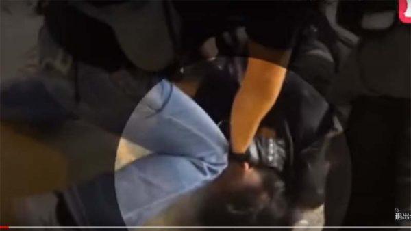 港青年被打掉門牙視頻曝光 警察按頭朝臉部打兩棍