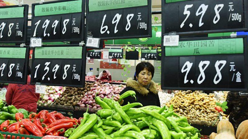 贸易战恶果显现? 中国物价暴涨最高近40%