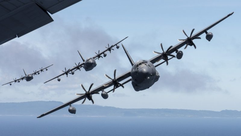 中共军演最后一天 美国MC-130J军机绕台飞行