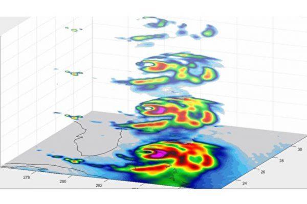 NASA小衛星繪製多利安颶風三維結構圖