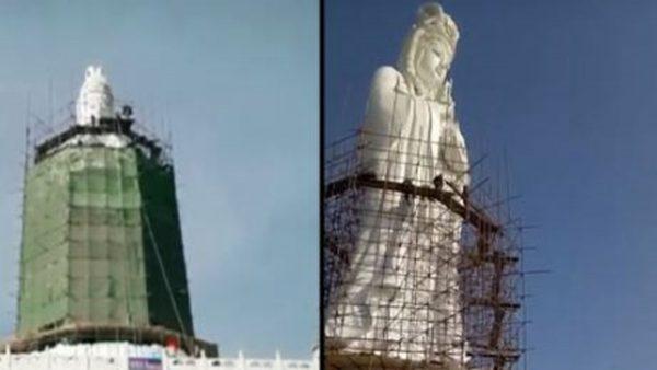 中共對宗教塑像動手 觀音「整容」成嫦娥