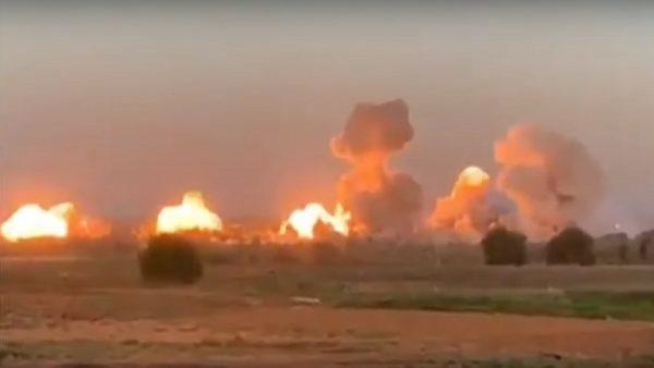 地毯式轰炸 美战机40吨炸弹空袭IS据点(视频)