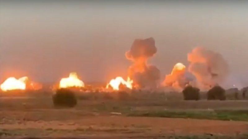 地毯式轟炸 美戰機40噸炸彈空襲IS據點(視頻)