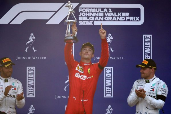 F1比利時站 法拉利獲突破 勒克萊爾奪首冠
